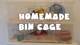 How To Make A Homemade Hamster Bin Cage