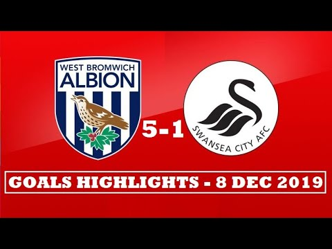 West Brom Vs Swansea City 5-1 (GOALS HIGHLIGHTS) England Championship ~ 08-12-2019