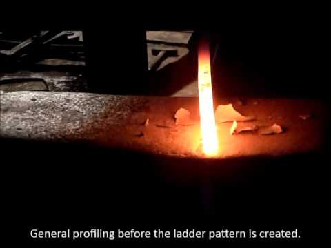 How to forge a Damascus Bowie Knife