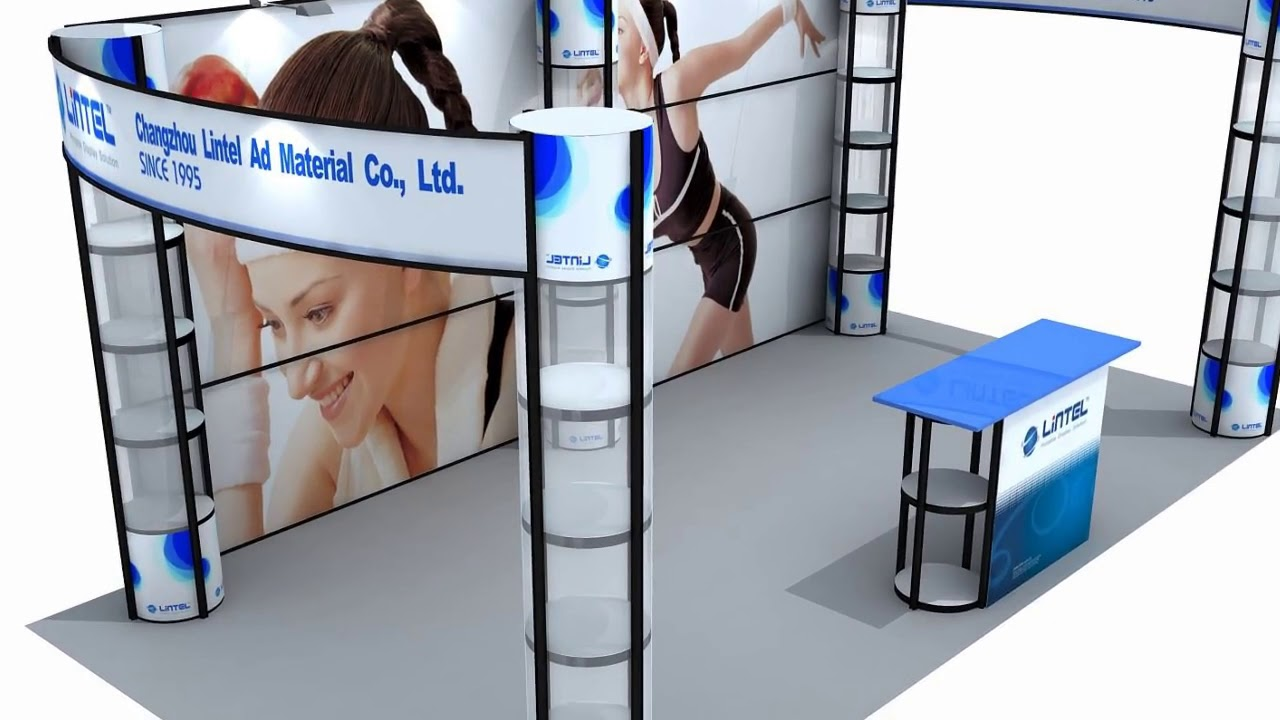 Portable Exhibition Stands Dubai : Portable exhibition stand design ideas youtube