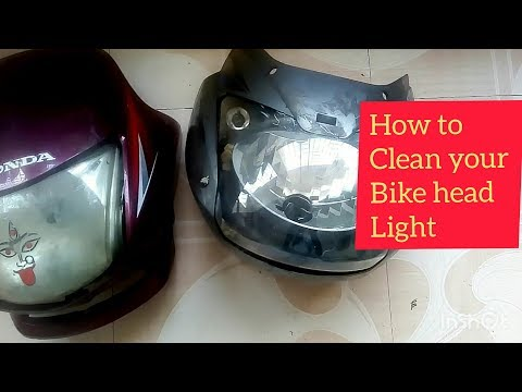 How to clean your bike head lights at home