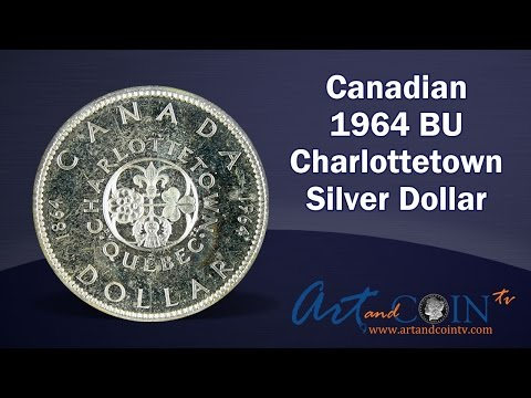 Canadian 1964 BU Charlottetown Silver Dollars At Art And Coin TV