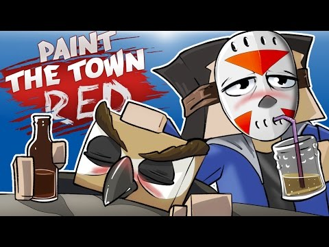 PAINT THE TOWN RED - BIKER BAR BRAWL!!! (Co-op With Vanoss) Delirious' Perspective!