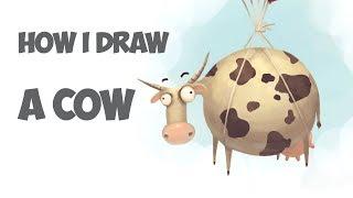 How I Draw a Cow in Photoshop / Рисую Корову в Фотошоп