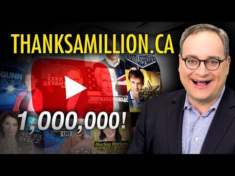 Ezra Levant: Thank you to The Rebel's ONE MILLION subscribers!