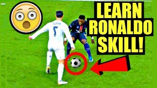 CRISTIANO RONALDO Football/Soccer Skill Tutorial (How To Do Ronaldo/Messi/Neymar Skills) SkillTwins