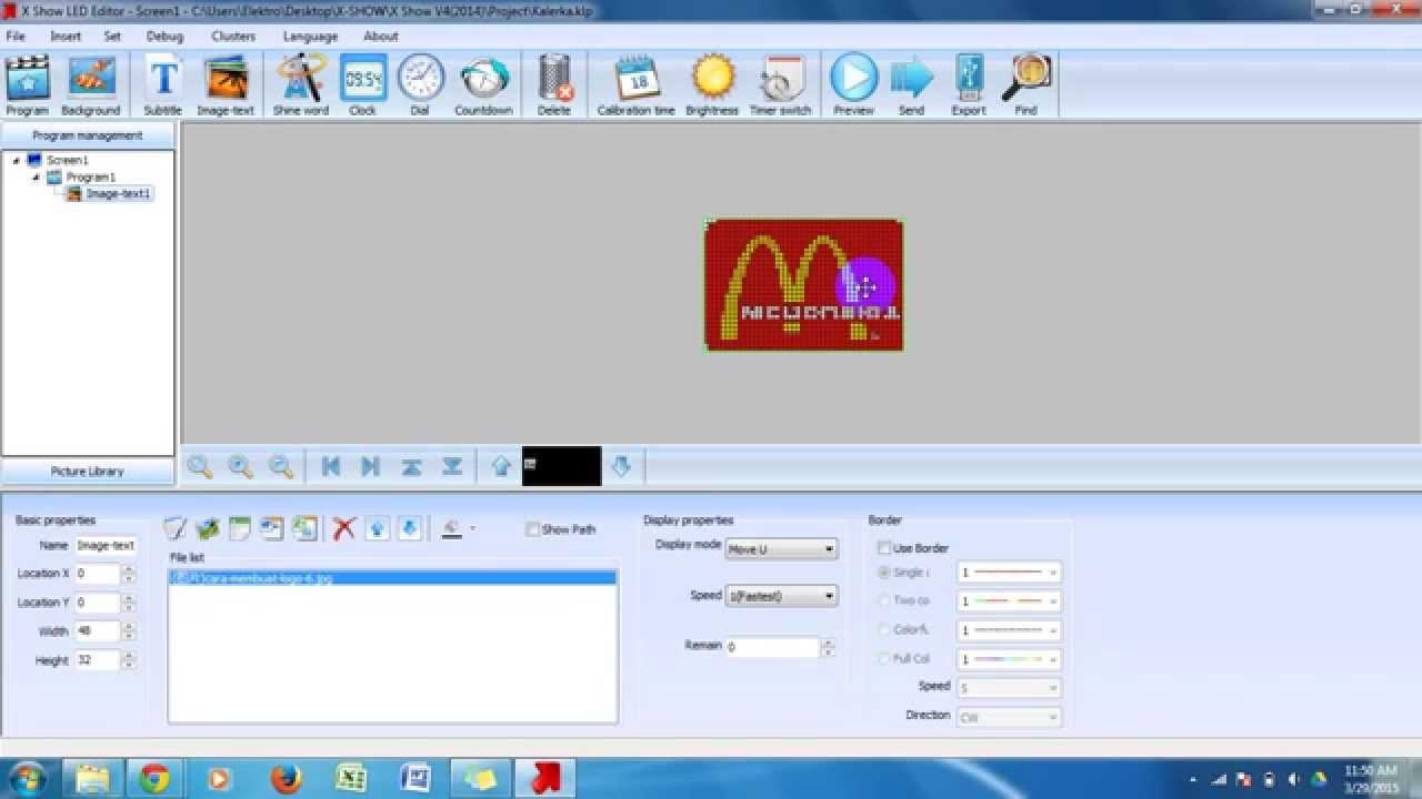 Cara Memprogram Running Text Rgb Full Color Youtube