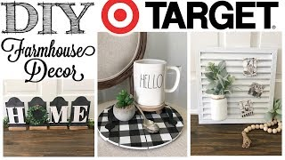 DIY Farmhouse Decor | 3 PROJECTS! | Target Dollar Spot
