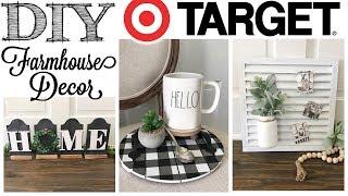 DIY Farmhouse Decor   3 PROJECTS!   Target Dollar Spot