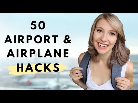 50 Airport & Airplane TRAVEL HACKS | Your  BEST FLIGHT EVER 2019