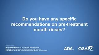 Covid 19: Pre Treatment Rinses For Dental Patients