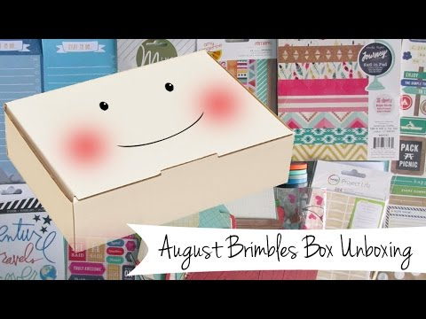 August Brimbles Box Unboxing - Monthly Stationery / Planner Subscription Box
