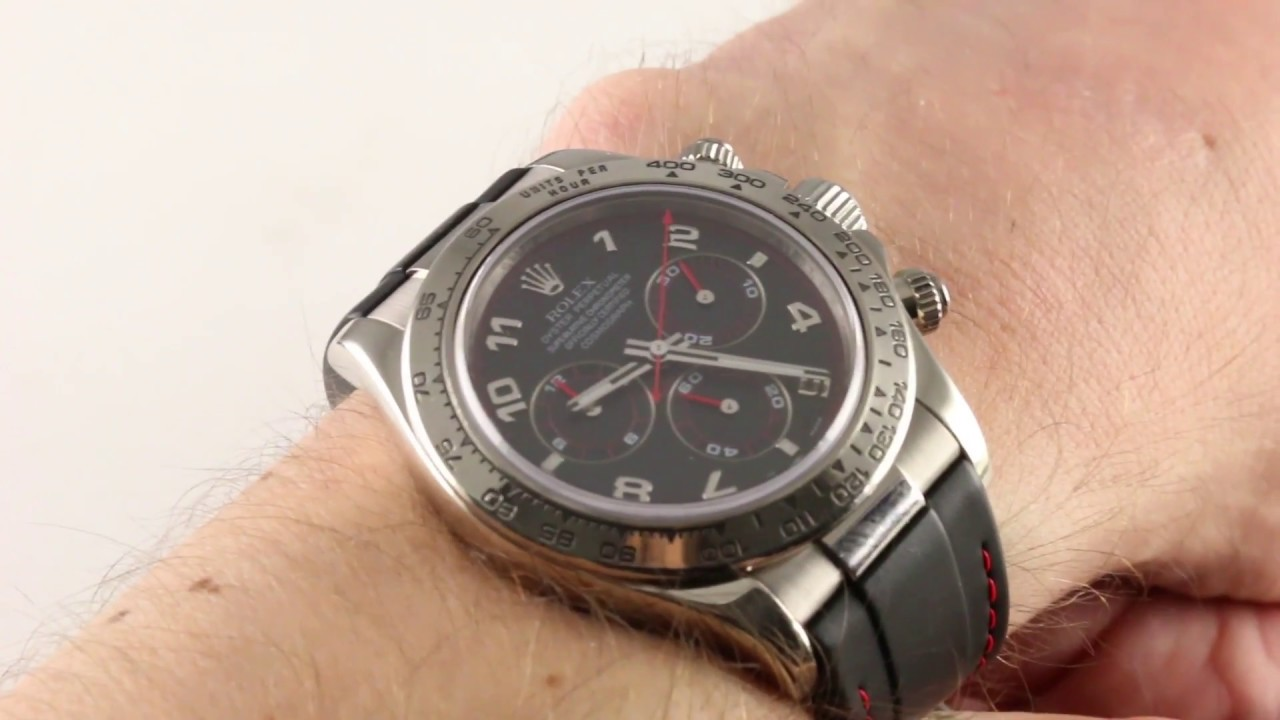 Rolex Rubber Rolex Cosmograph Daytona Rubber Strap 116519 Luxury Watch Review
