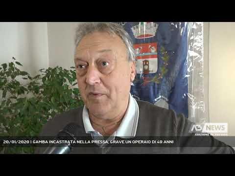 20/01/2020 | GAMBA INCASTRATA NELLA PRESSA, GRAVE ...