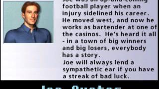 Hoyle Casino 2008 - Joe quotes
