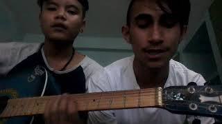 Aja akash ma auta târa dekhina. Acoustic version.cover by kewal and kushal