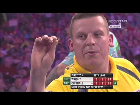 Last Set between Peter Wright vs Dave Chisnall WM 2016 Round 3