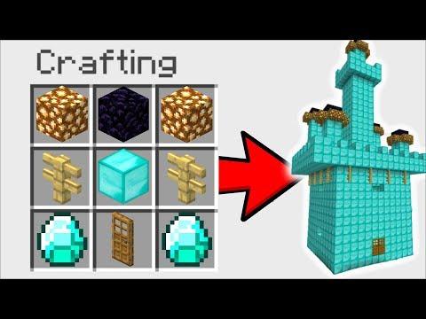 Minecraft How To Instantly Build A Diamond House Mod!! Mark Friendly Zombie Helps!! Minecraft Mods