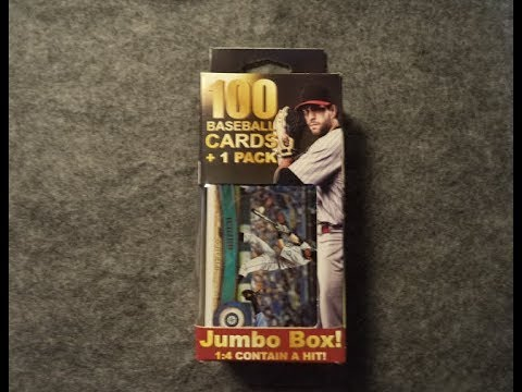 2017 Walgreens 100 Baseball Cards 1 Pack Jumbo Box Fairfield Company