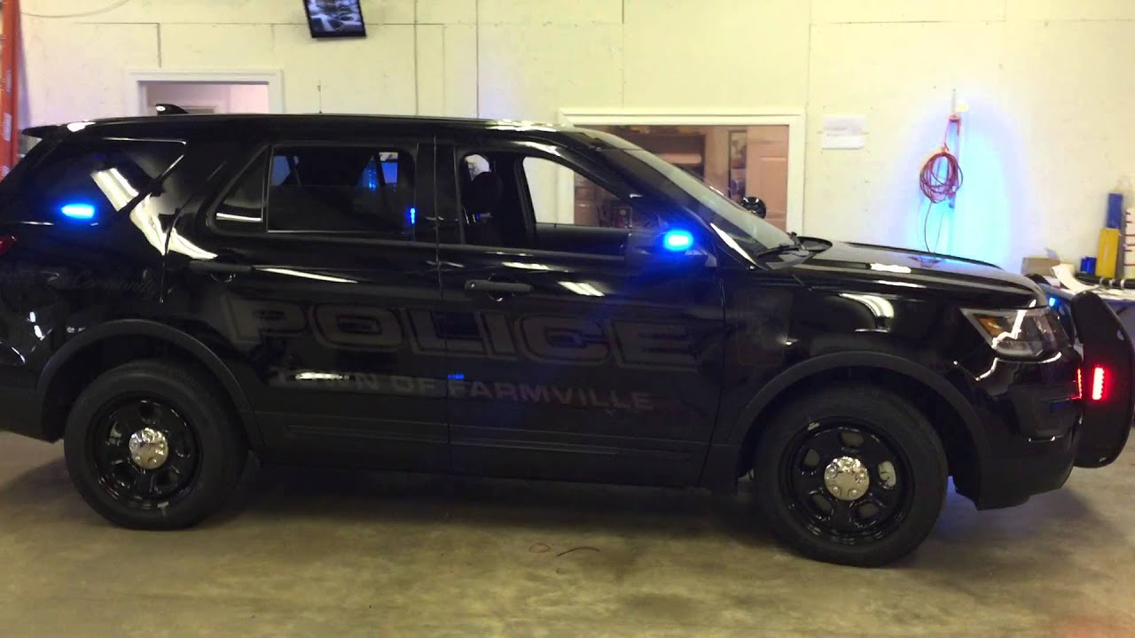 Police Lights Sirens >> 2016 Ford Interceptor Utility with ghost graphics. - YouTube