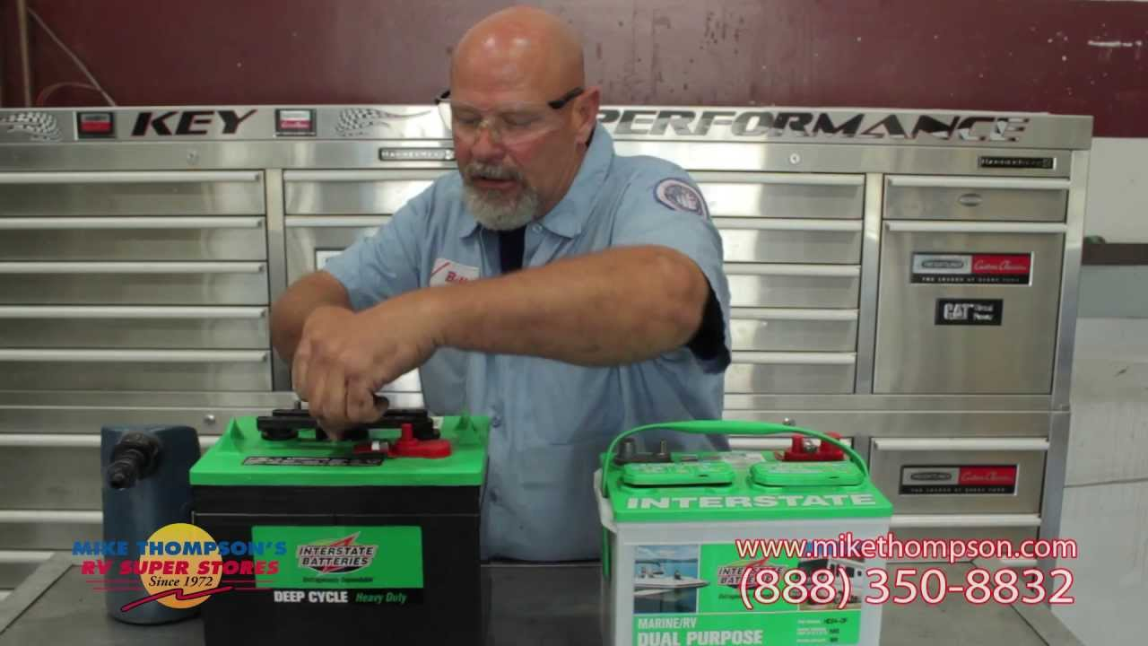 How to Maintenance RV Batteries by Mike Thompson's RV Super Stores