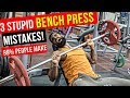 3 BIGGEST BENCH PRESS MISTAKES IN GYM   Proper Bench Press Form for BIGGER CHEST
