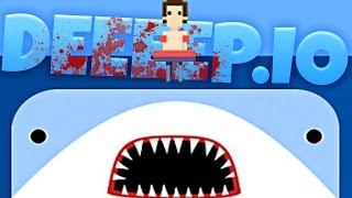 Deeeep Gameplay - The Biggest Baddest Shark! - Deeeep.io Gameplay Highlights