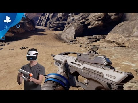 5f97d0104 Farpoint - PS VR Aim Controller Setup and Demo | PS VR - YouTube