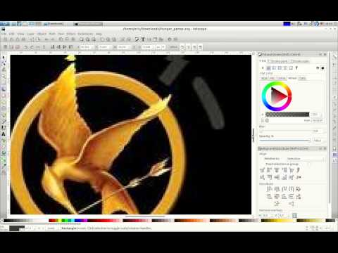 """Hunger Games Book Cover Inkscape&Gimp Tutorial-3"" By @ErocZ Of Zbooks.co"