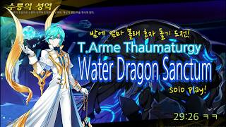 [Elsword KR] 몰겜 성공!/수룡의 성역 솔플!(T.Arme Thaumaturgy Water Dragon Sanctum solo play)