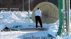 Painon heittoa veteraanien halli SM-kisat Tampere