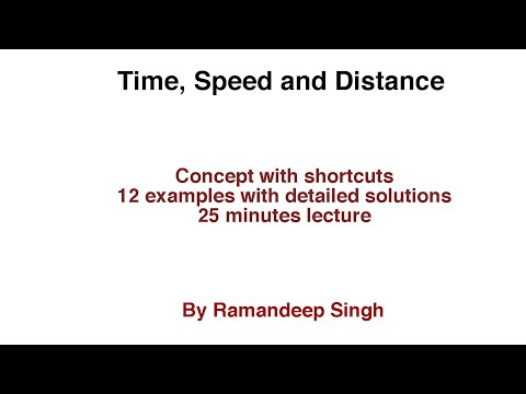Time, Speed and Distance - Shortcut Tricks and Techniques