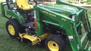 how to drive a compact tractor (2210)