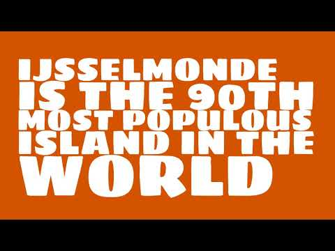 How many people live on the island of IJsselmonde?