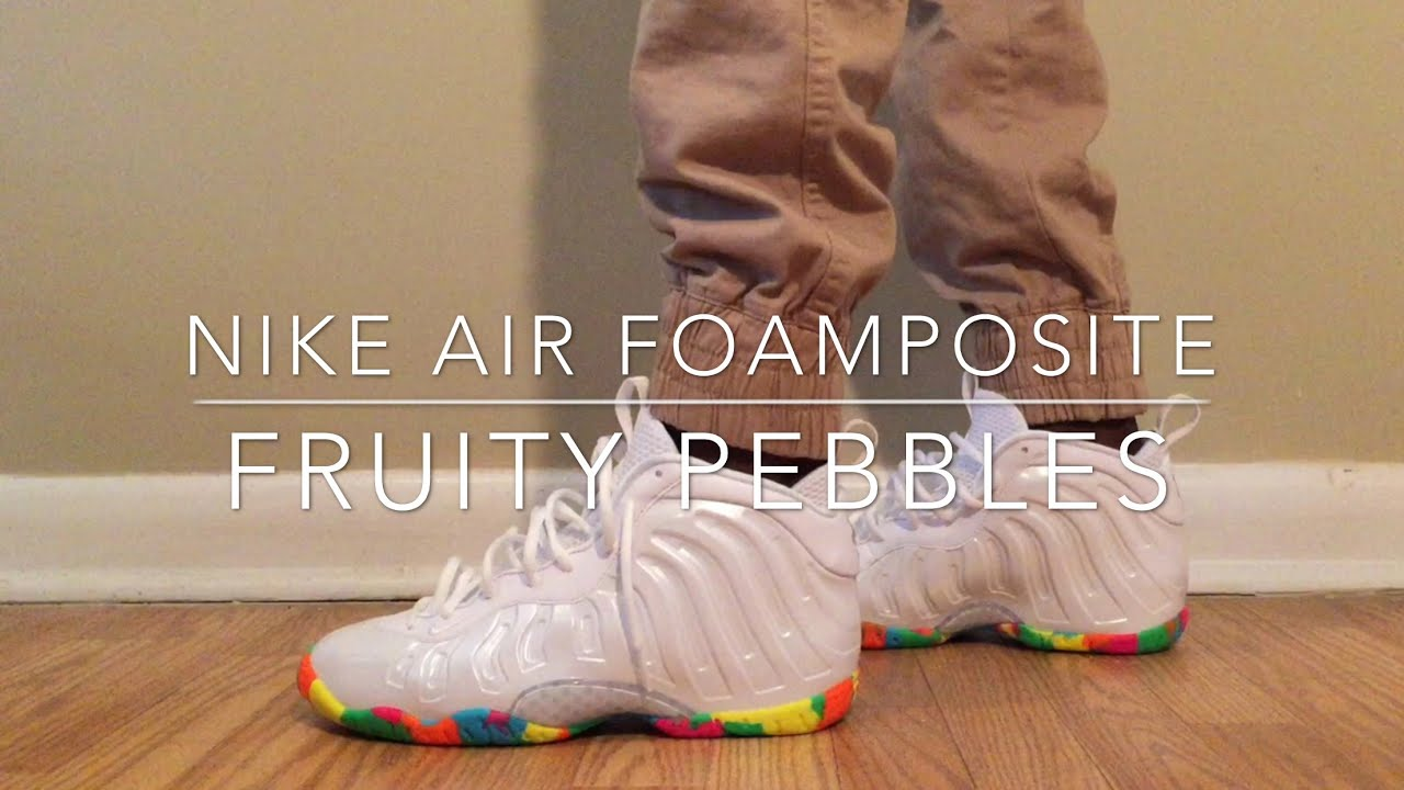 ee60c26a0e8 ... official nike air foamposites gs fruity pebbles review on feet youtube  cb0f4 410d1