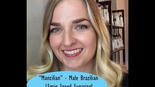 FULL Male Brazilian Sugaring Waxing | Man Brazillian Wax Esthetician Training Spa