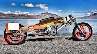 Moped Dick at Bonneville World Finals 2019 - 50cc Two Stroke Landspeed Bike