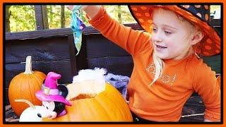 Surprise Jack O Lantern Pumpkin W/ Tsum Tsums, Splashlings, Mixie Q's, Kitty in my Pocket & Shopkins