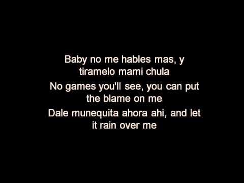 Pitbull ft. Marc Anthony - Rain Over Me - Lyrics