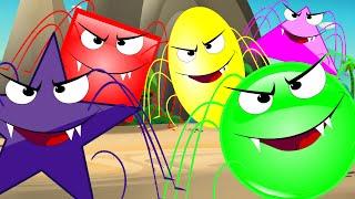 Kids TV Nursery Rhymes | Five Scary Spiders Spider | Rhymes Kids Tv Nursery Rhymes