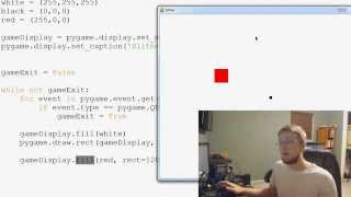 Pygame (Python Game Development) Tutorial - 6 - Draw Rect and Fill