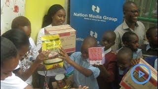 Nation media staff donates foodstuff to Mama Fatuma Children's home