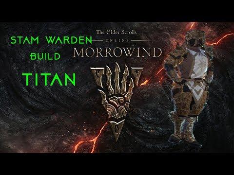 *ESO 2017 NEW Stam Warden pvp BUILD TITAN*