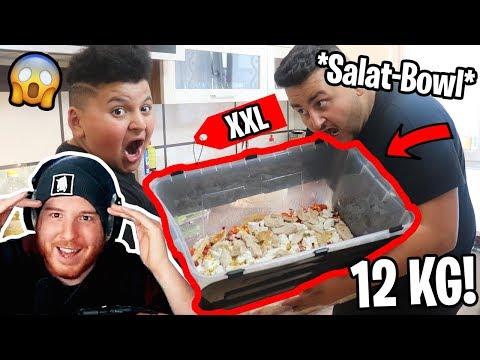 😋😱XXL *SALAT-BOWL* gemacht und gegessen!   Can Wick