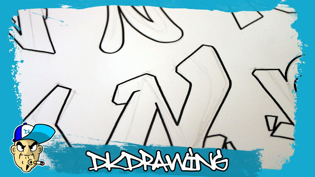 Graffiti Alphabets Letter N  Buchstabe N  Letra N  YouTube