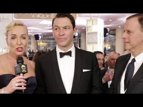 Dominic West on the HFPA Red Carpet Stage