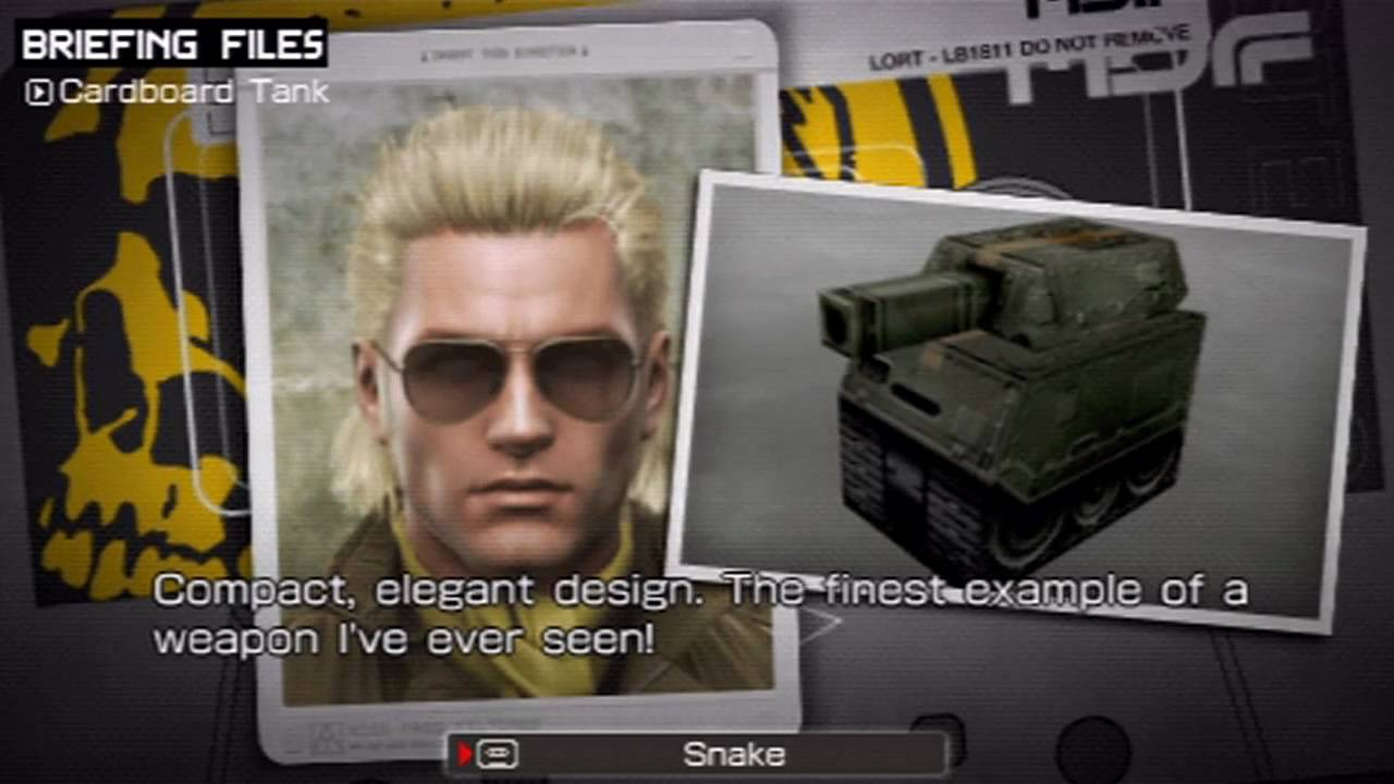 metal gear solid peace walker miller special items youtube