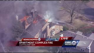 Several homes near OP complex blaze catch fire