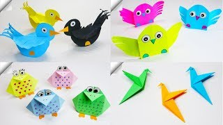 5 DIY paper crafts for kids | Paper birds