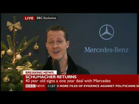 Michael Schumacher returns to Formula 1 with Mercedes - Exclusive BBC interview